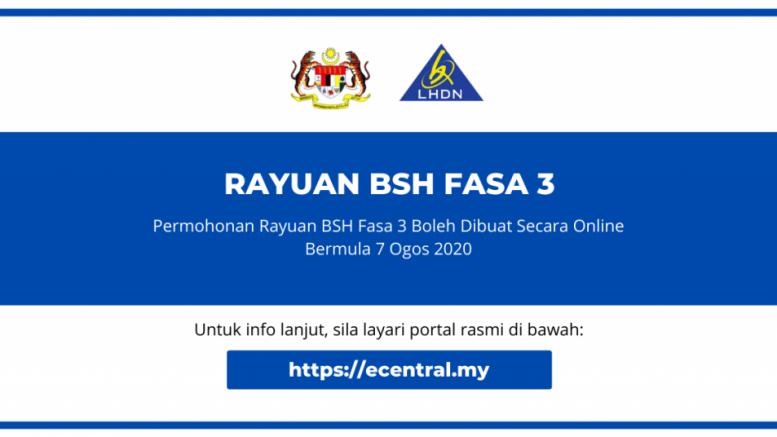 Rayuan Bsh Fasa 3 2020 Online